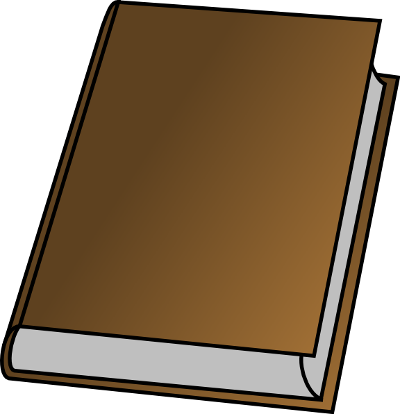Blank book cover clipart color