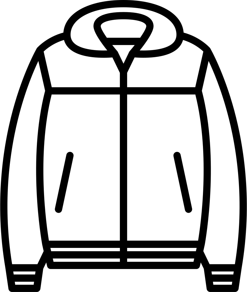 Book cover clipart black and white clip royalty free stock Nylon Jacket Svg Png Icon Free Download (#59676) - OnlineWebFonts.COM clip royalty free stock