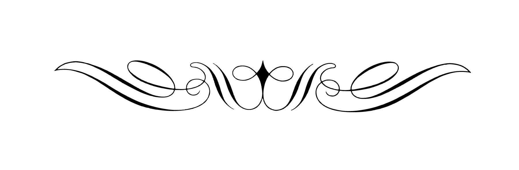 Book divider clipart clip art library download Curly Art Nouveau Divider transparent PNG - StickPNG clip art library download