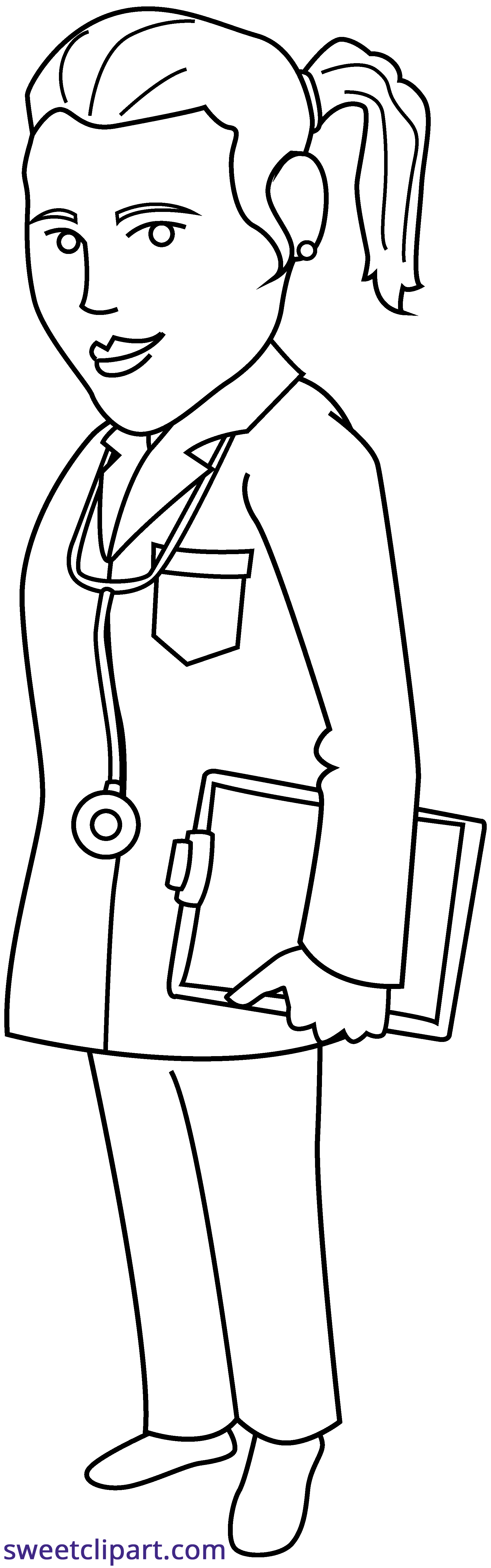 Book doctor clipart clip art royalty free library Doctor Line Art Clipart - Sweet Clip Art clip art royalty free library