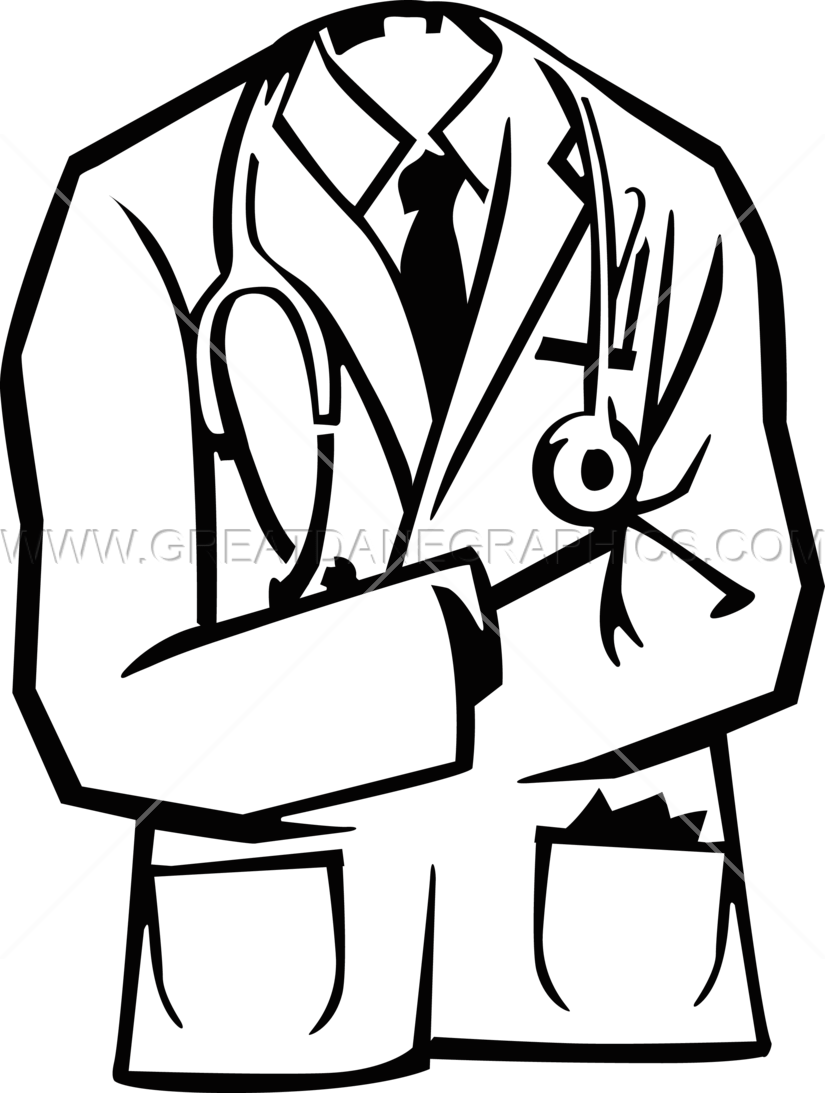 Book doctor clipart png free Doctors Coat | Production Ready Artwork for T-Shirt Printing png free