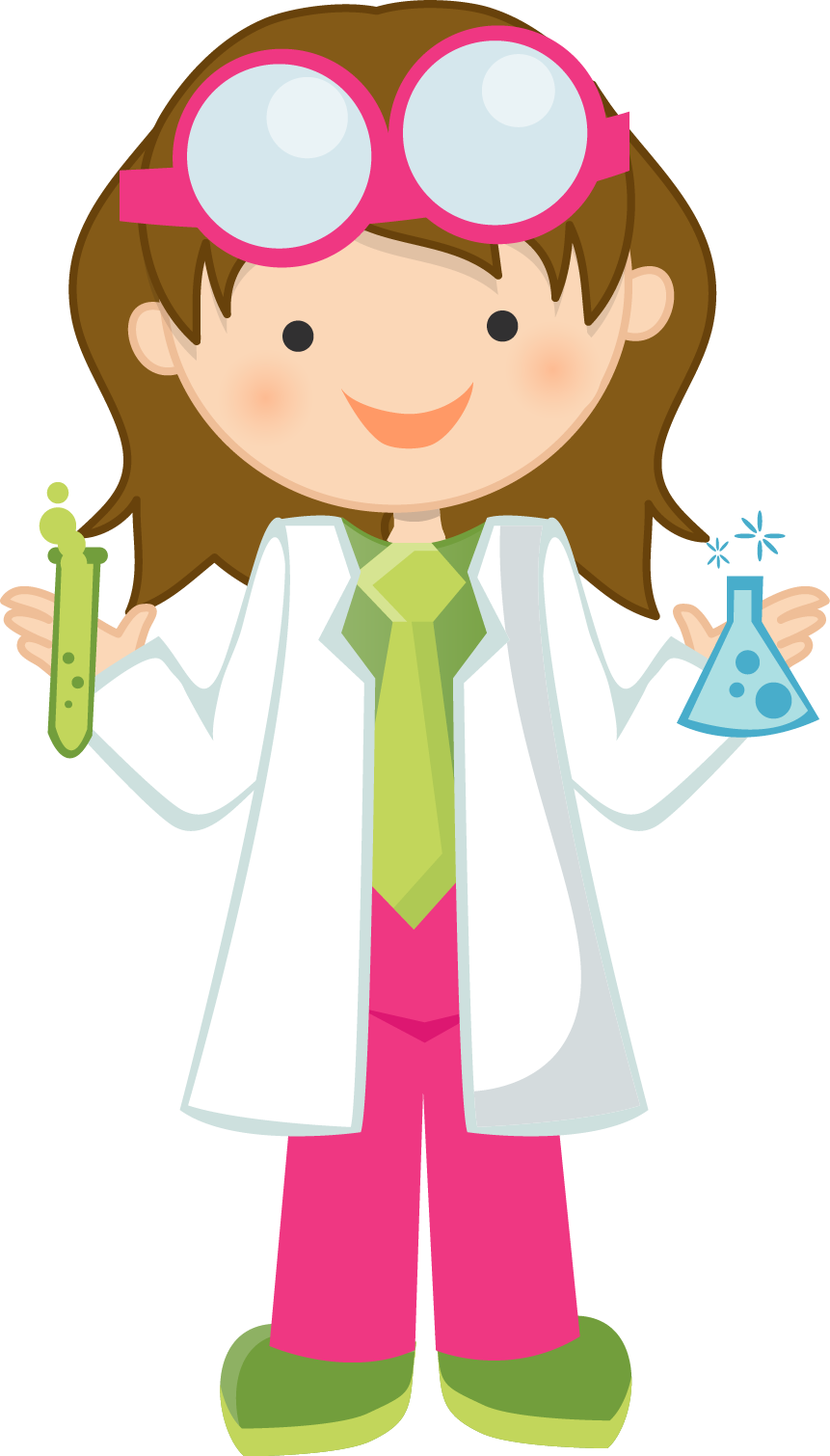 Halloween science clipart vector library download Girl Scientist Free Clipart | Science Fun | Pinterest | Girls, Free ... vector library download