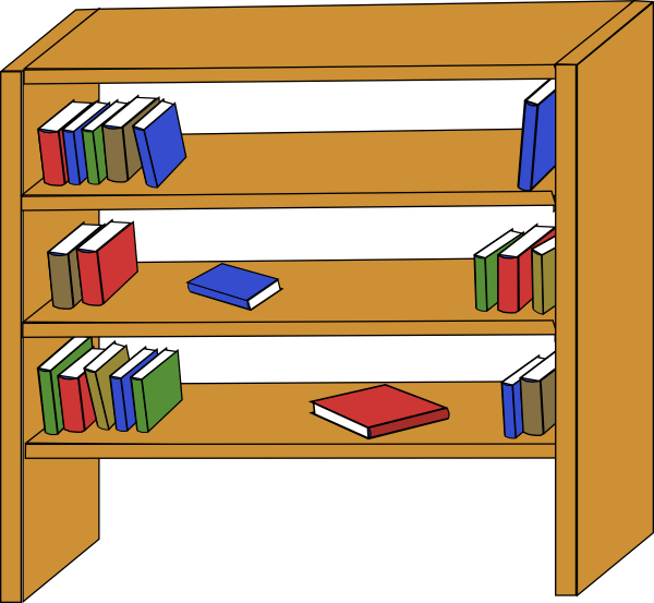 Library book clipart free vector royalty free library Clipart Of Books In A Library at GetDrawings.com | Free for personal ... vector royalty free library