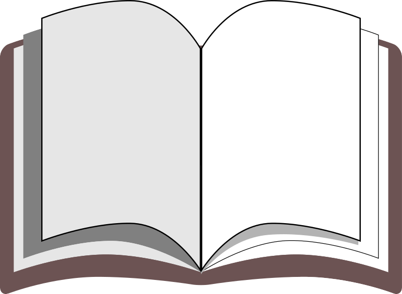 Empty book clipart png library stock Clipart - open book png library stock