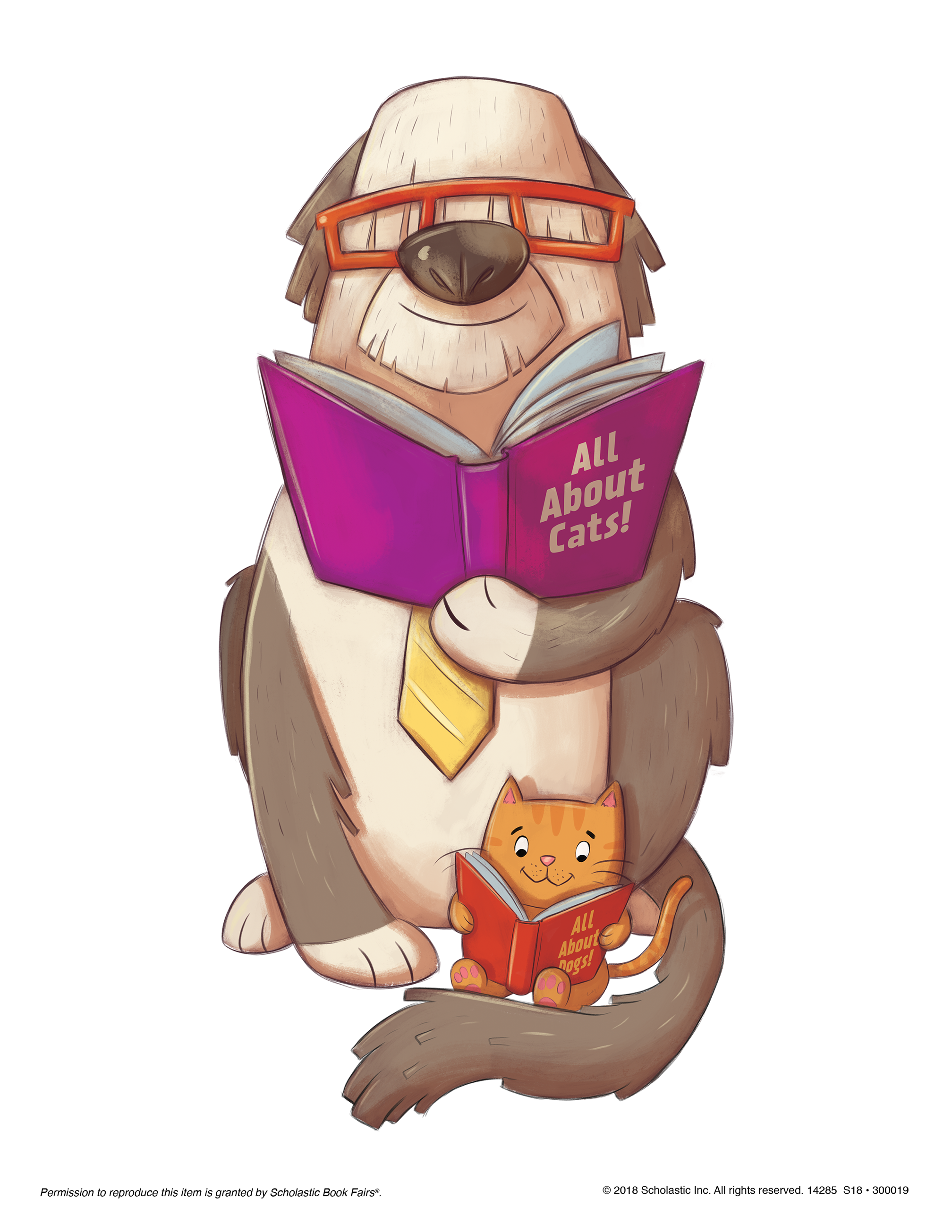 Cat reading book clipart banner royalty free Book Fairs Downloads | Scholastic New Zealand banner royalty free