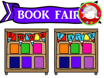 Book fair images clipart banner library library Book Fair Clipart (Personal & Commercial Use) banner library library