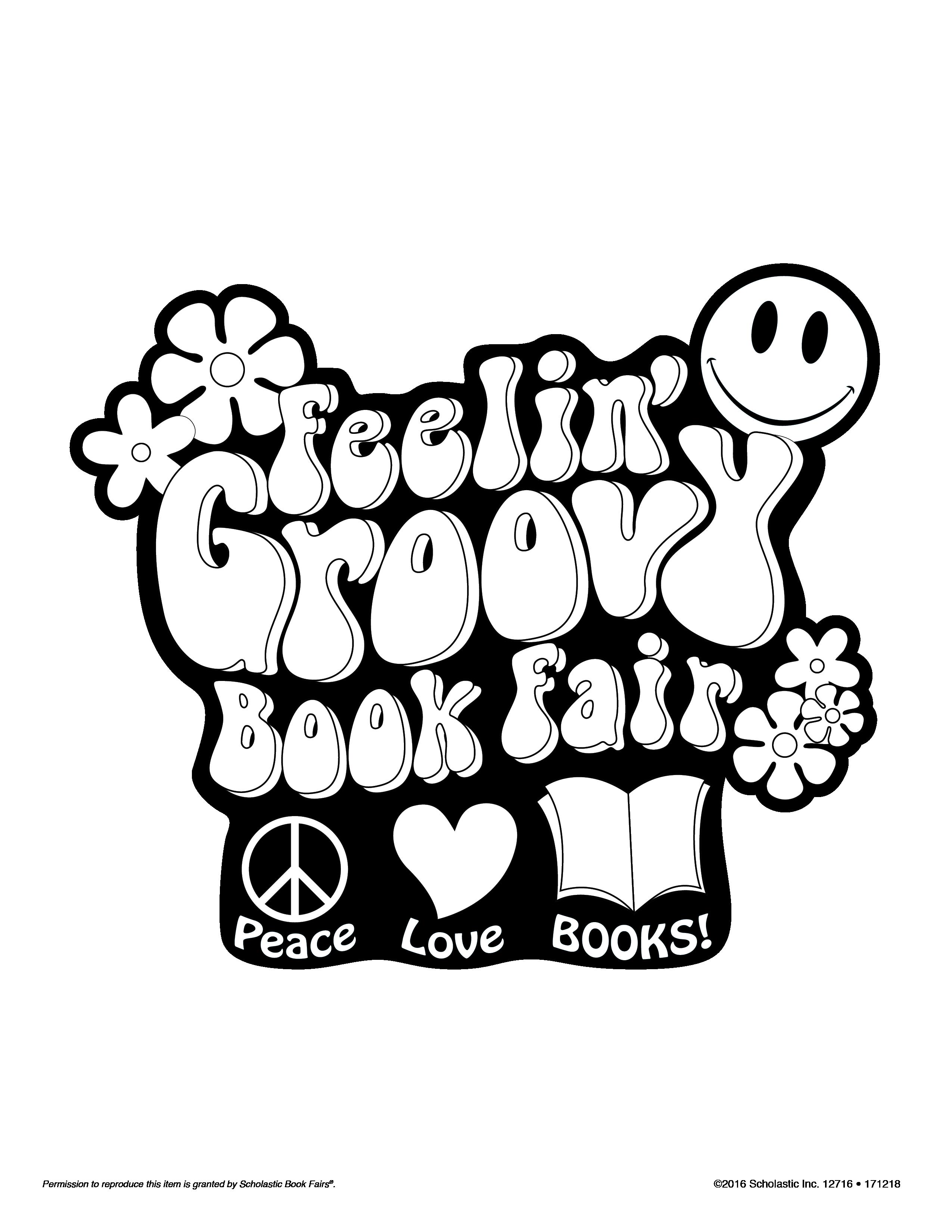 Book fair feelin groovy clipart free download Feelin Groovy Book Fair - Mom&Son free download