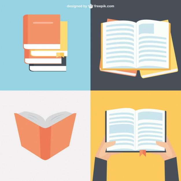 Book flat design clipart