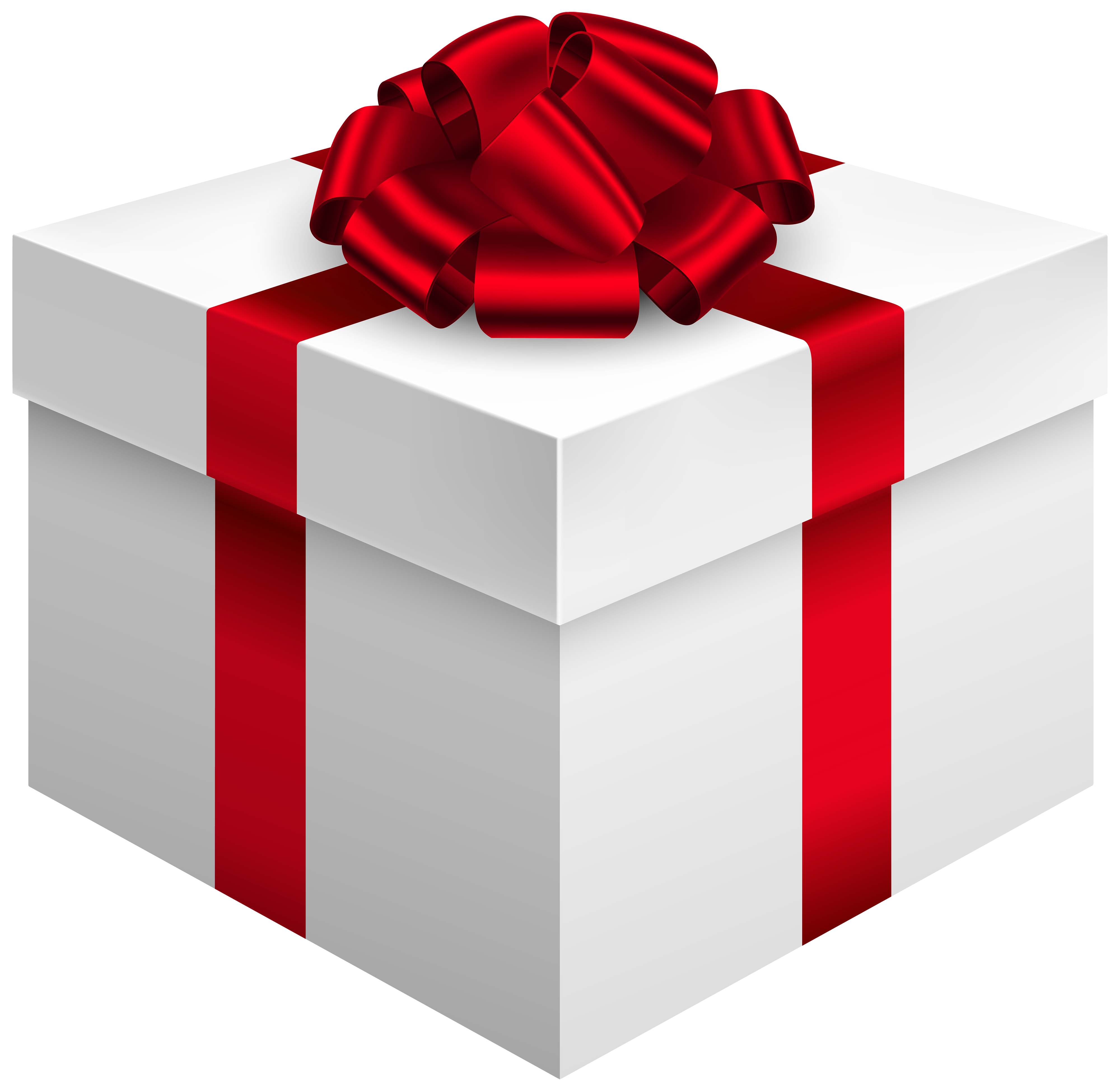 Book gift clipart svg free White Gift Box with Red Bow PNG Clipart - Best WEB Clipart svg free