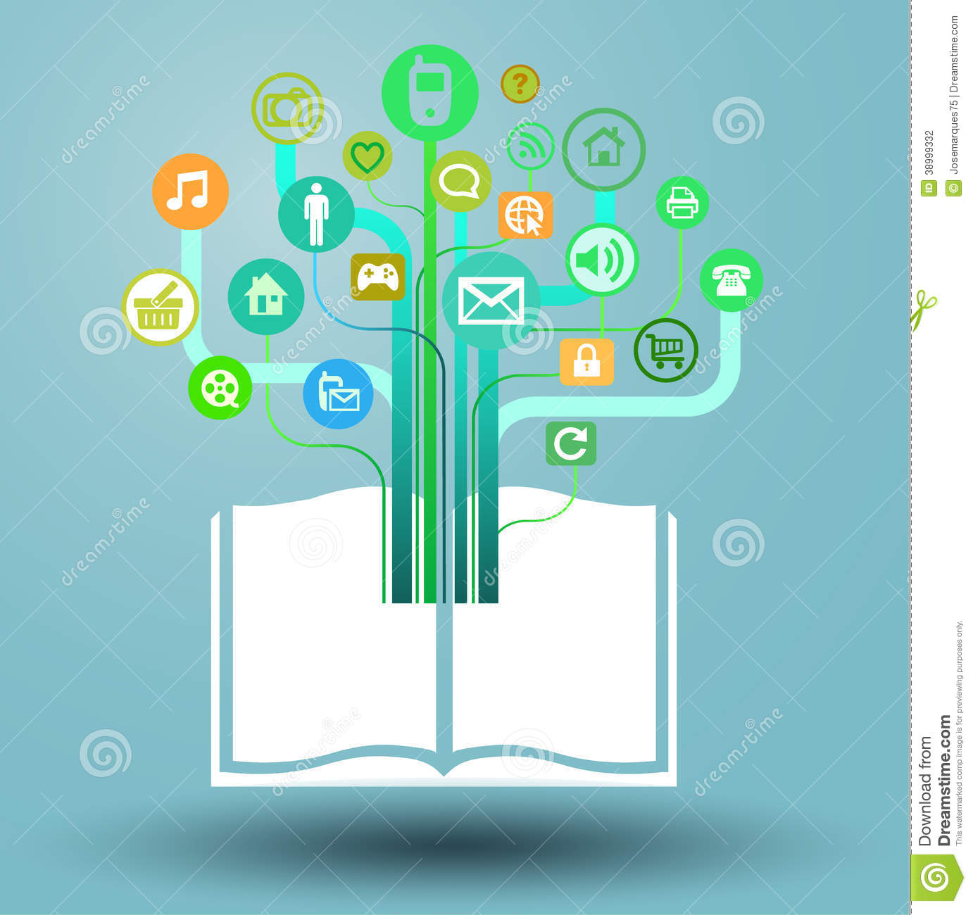 Book graphics clip free stock Book - Info Graphics Tablet Of Media Stock Vector - Image: 38999332 clip free stock