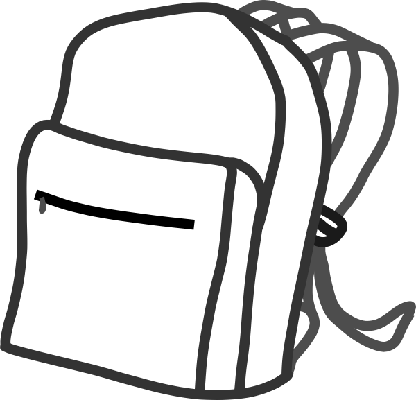 High school clipart black and white picture free library Bookbag clipart - ClipartFest picture free library