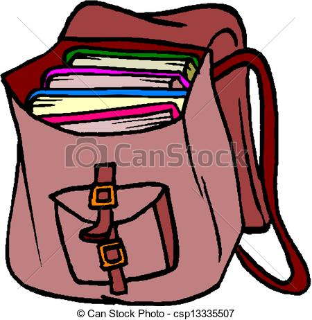 Book in a bag clipart image library download Book Bag Clipart - Clipart Kid image library download