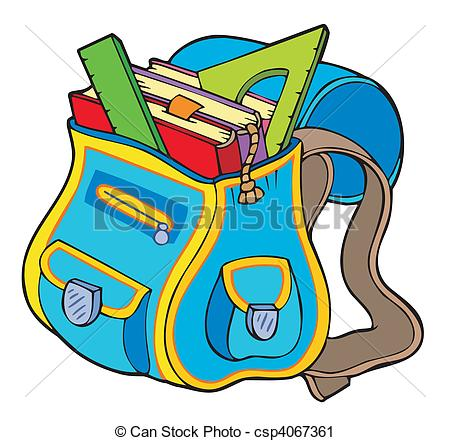 Book in a bag clipart image stock Book bag Stock Illustration Images. 7,542 Book bag illustrations ... image stock