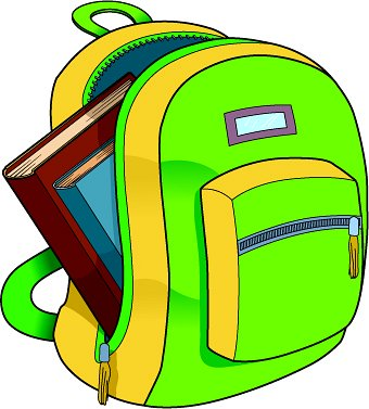 Book in a bag clipart clipart free download Book bag clip art - ClipartFest clipart free download
