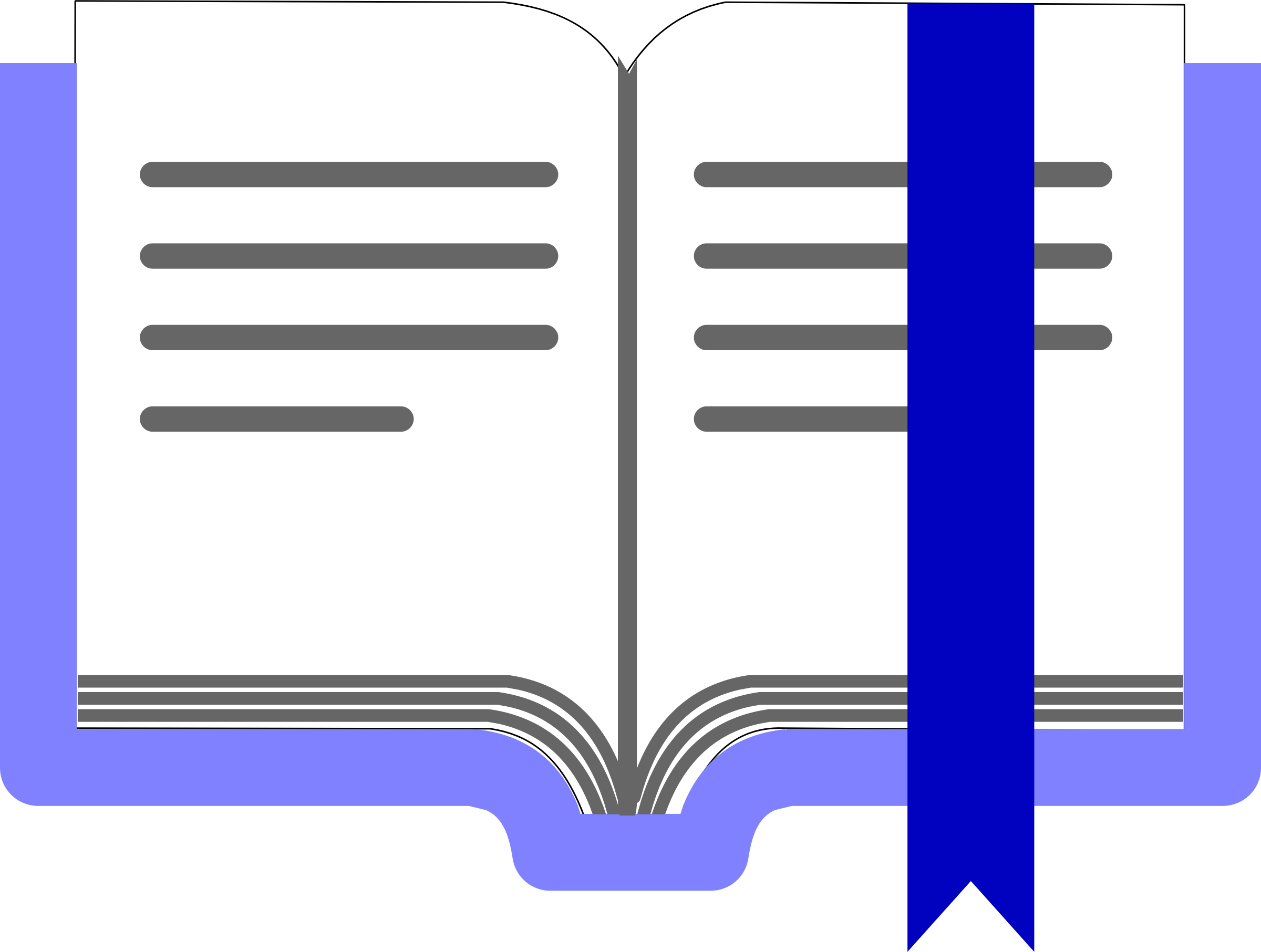 Book mark clipart picture royalty free library Clipart - Open Book with Marker picture royalty free library