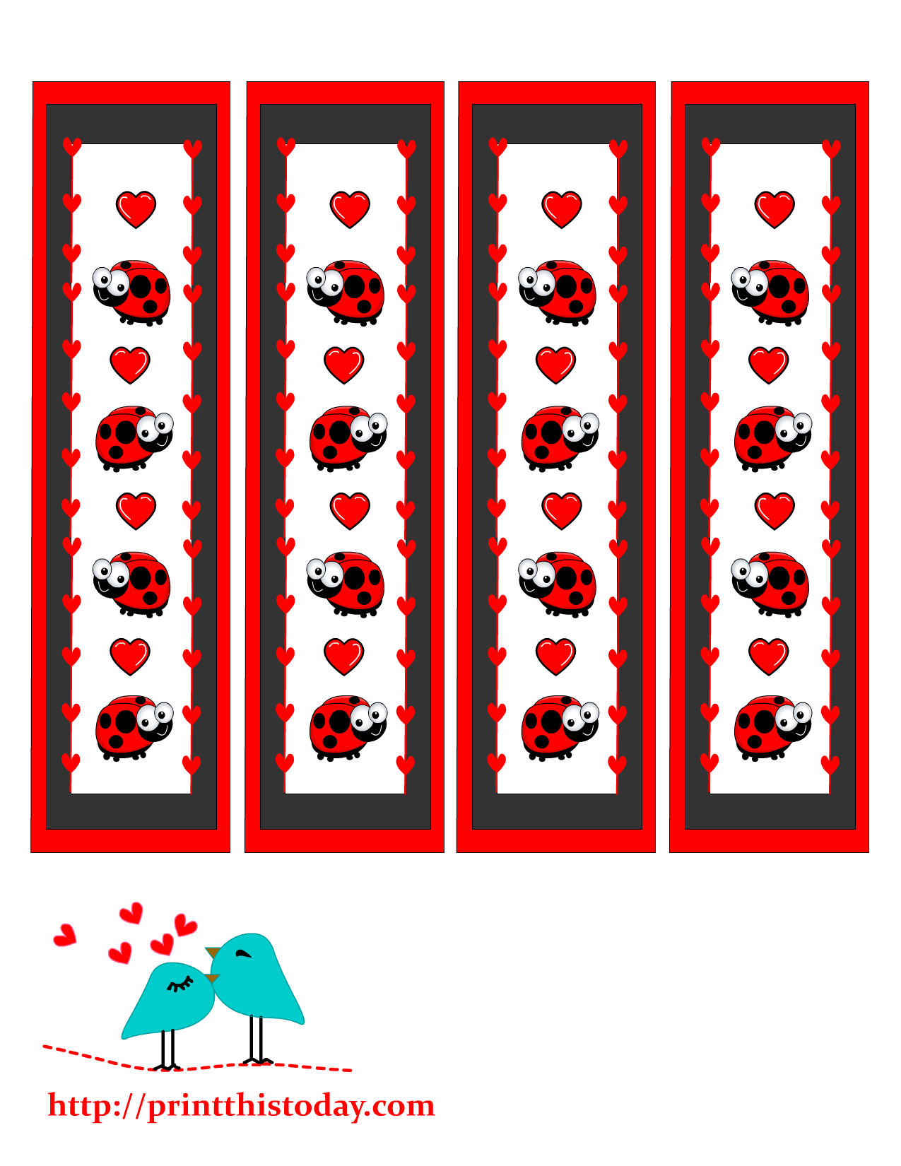 Book mark clipart svg library stock Valentine Bookmarks to print svg library stock
