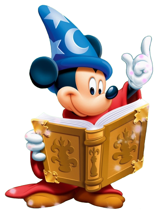 Book mouse clipart banner library stock MICKEY MOUSE ~ The Sorcerer's Apprentice, Fantasia,1940 | FANTASIA ... banner library stock
