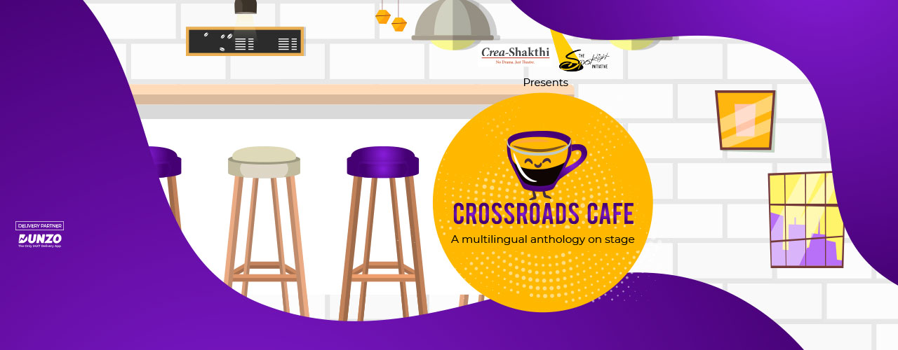 Book my show logo clipart graphic black and white stock Crossroads Cafe- A Spotlight Initiative Production Drama Play In ... graphic black and white stock