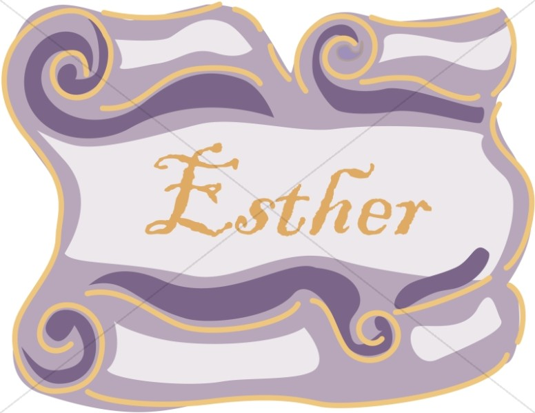 Book of esther clipart picture transparent Esther Scroll   Books of the Bible Word Art picture transparent