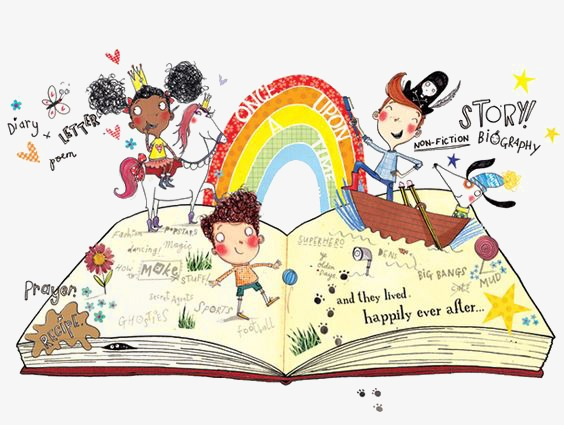Book of fairy tales clipart svg library Hand Painted Fairy Tale Book Clipart PNG Expert Simplistic 10 | www ... svg library