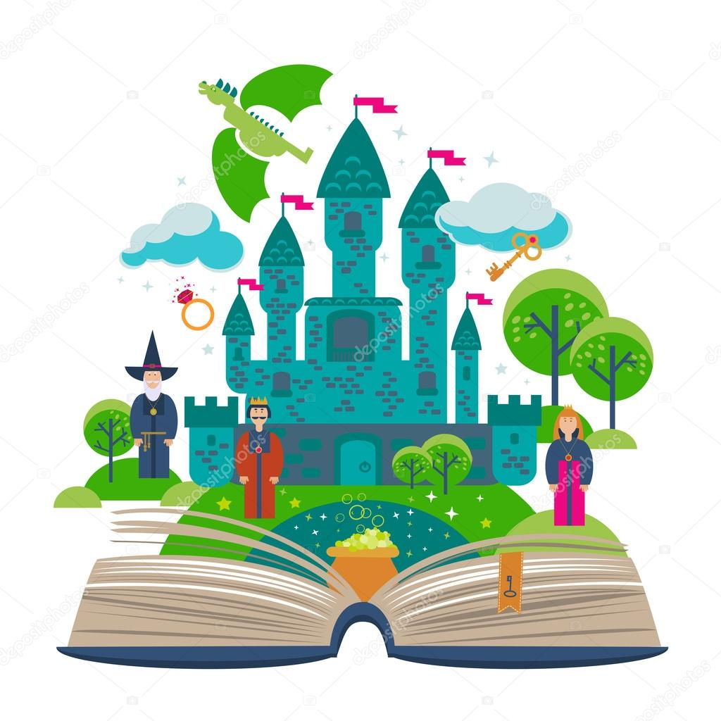 Book of fairy tales clipart transparent stock Fairy Tale Castle Clipart | Free download best Fairy Tale Castle ... transparent stock