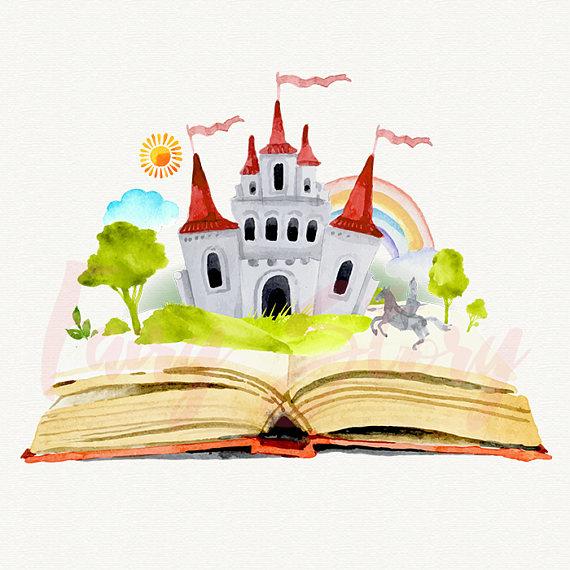 Book of fairy tales clipart clipart transparent stock fairy story clipart, unicorn, fairy, princess, watercolor magic ... clipart transparent stock