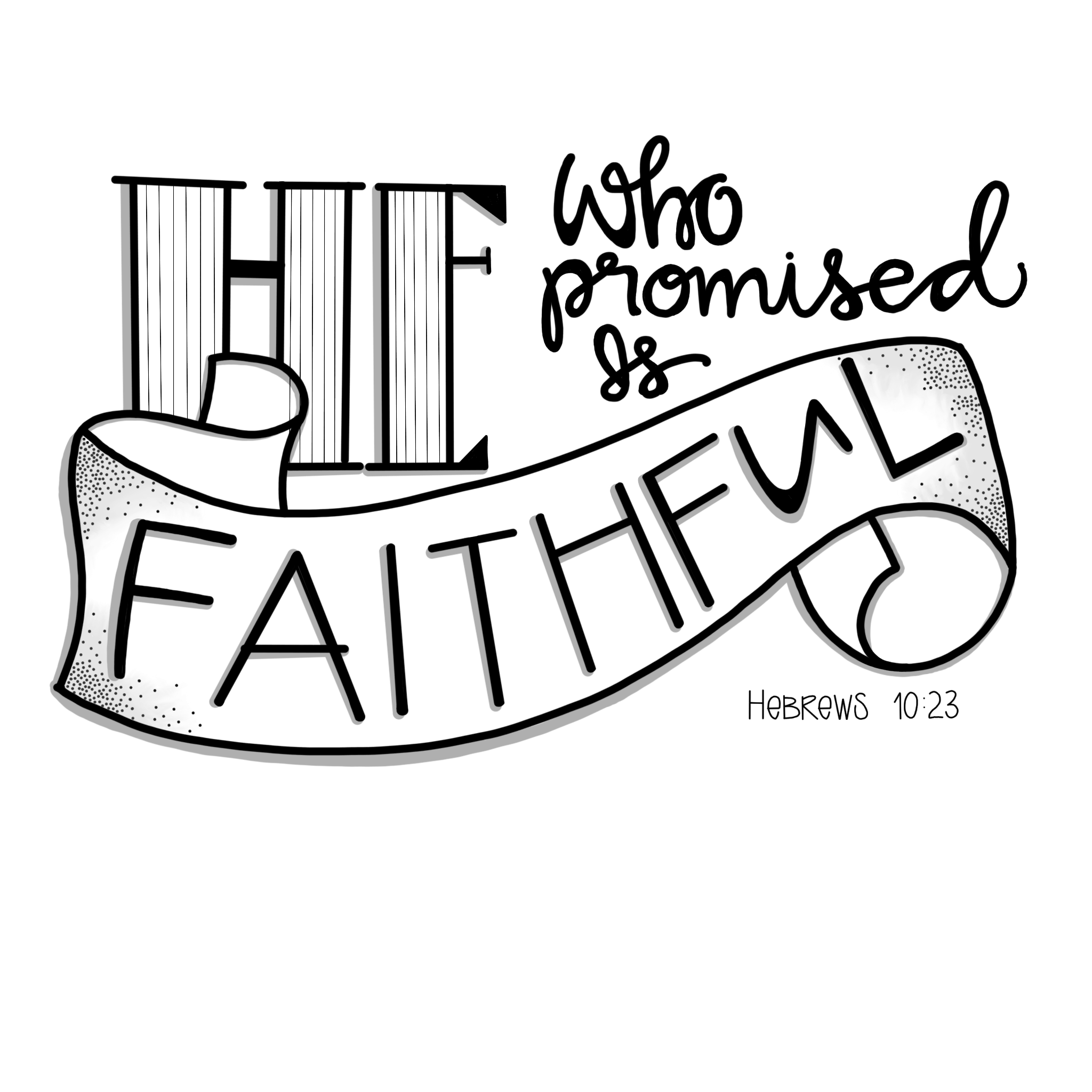 Book of hebrews clipart clip transparent download Doodle 101 / Banner / He is FAITHFUL – 1Arthouse clip transparent download