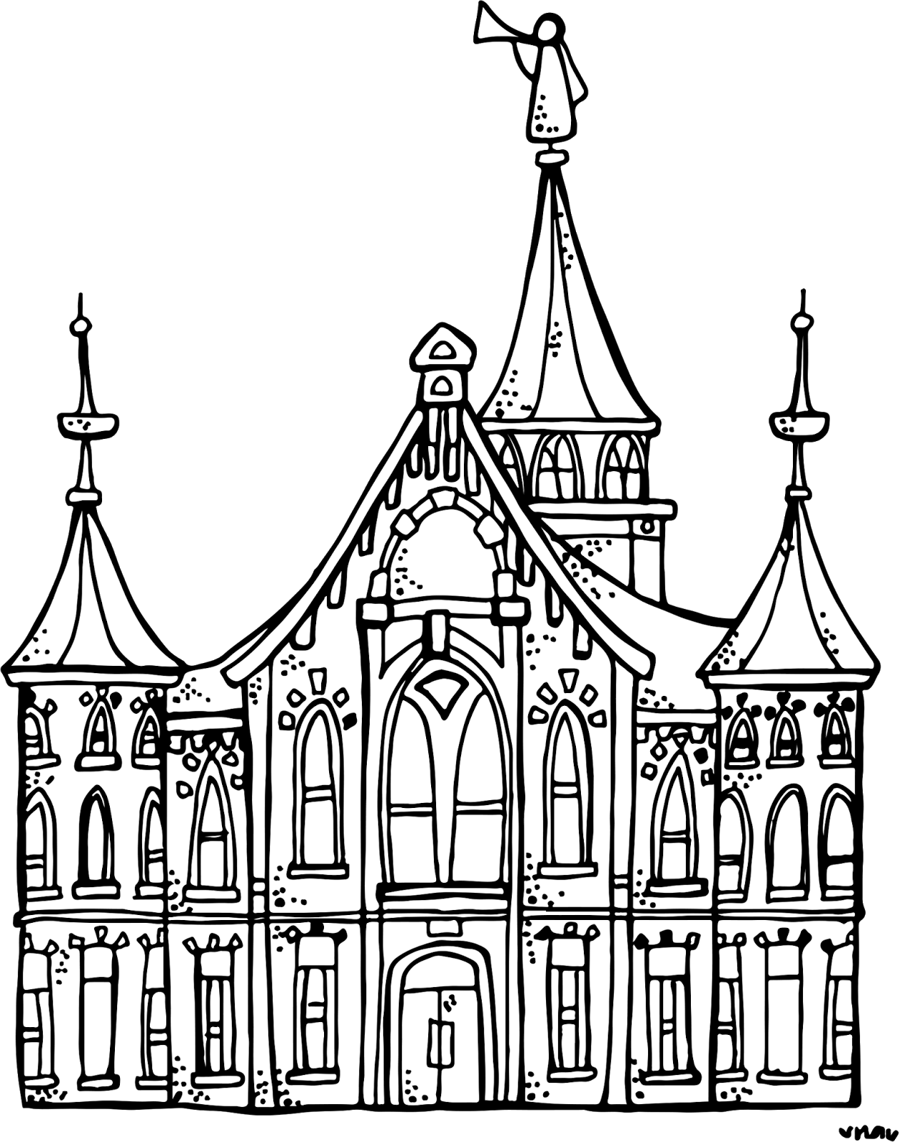 Book of mormon stories black and white clipart clip art transparent library Melonheadz LDS illustrating: Provo City Center Temple :) | coloring ... clip art transparent library