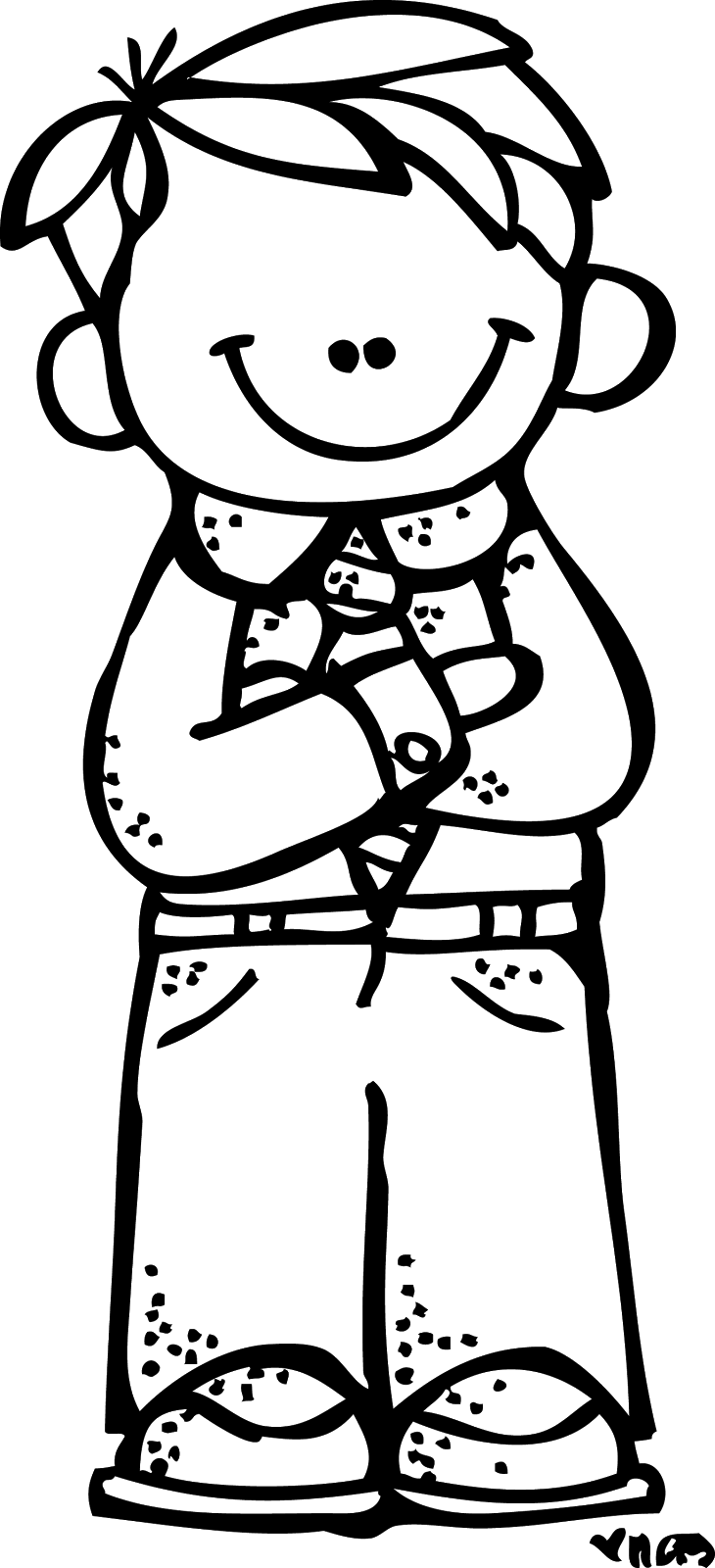 School boy clipart black and white graphic transparent download Reverent Boy - art by Melonheadz LDS illustrating | church ... graphic transparent download