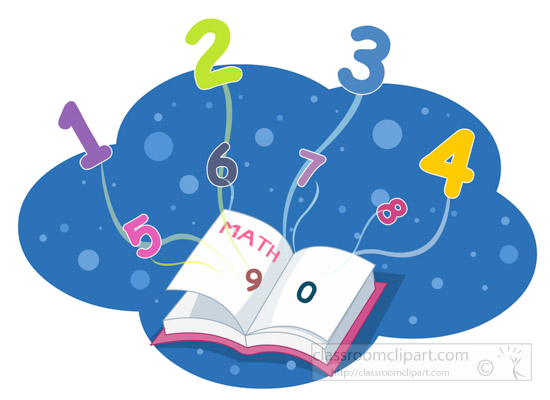 Book of numbers clipart