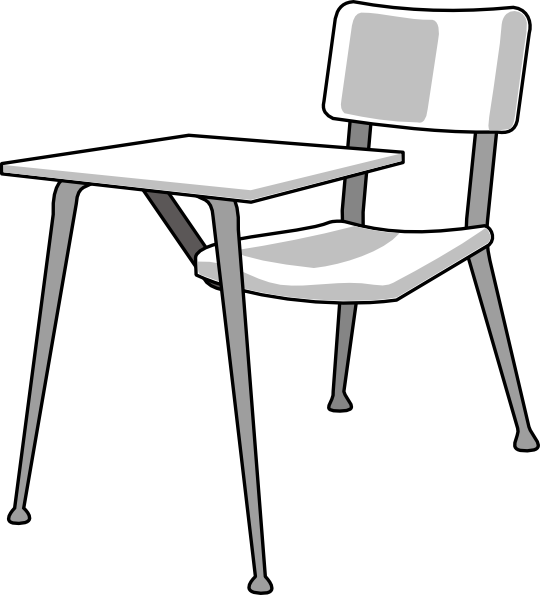 School desk clipart black and white png library library Student At Desk Clipart | Clipart Panda - Free Clipart Images png library library