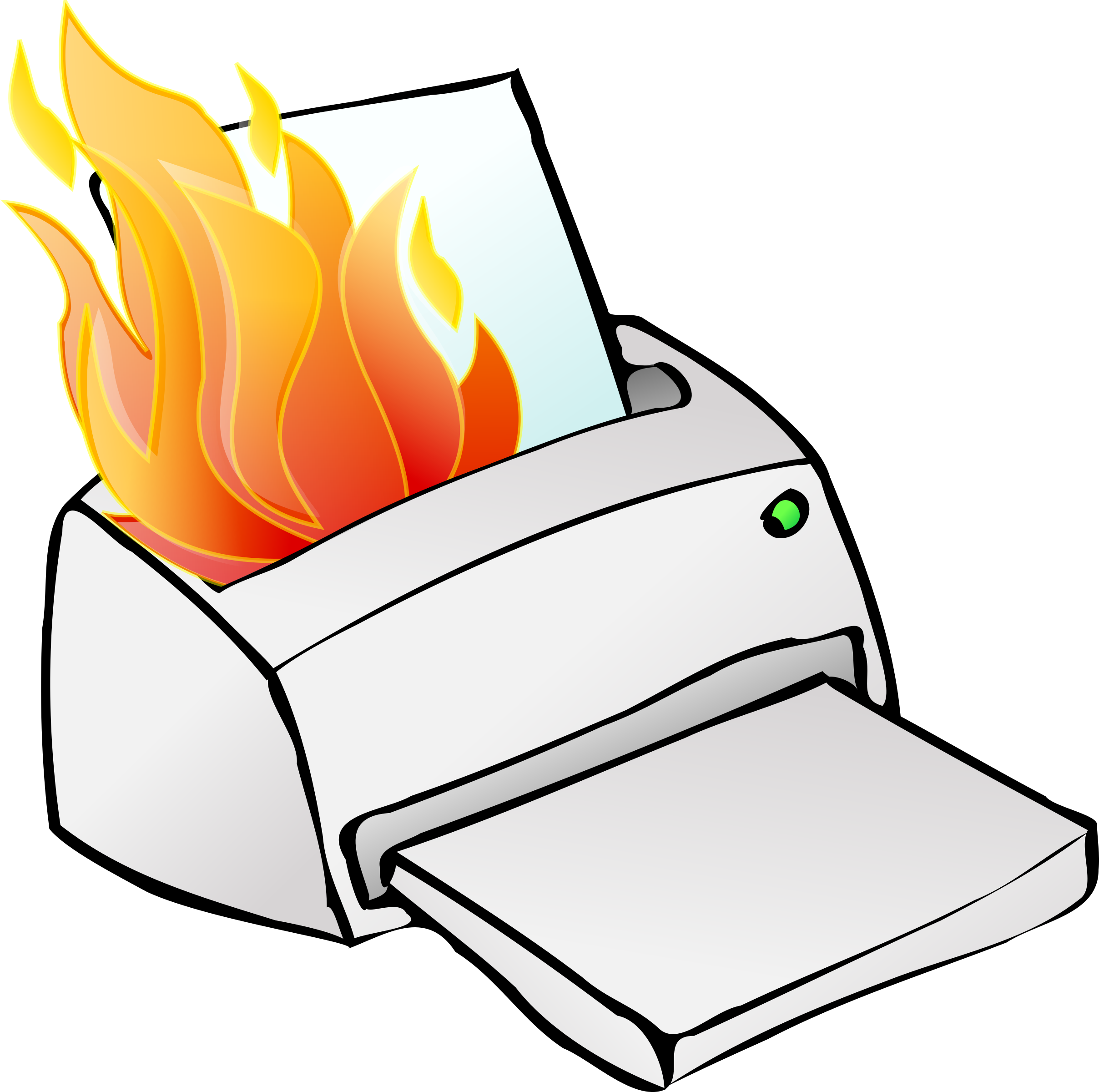 Book on fire clipart png royalty free stock Clipart - Printer on fire png royalty free stock