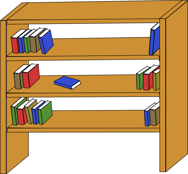 Book on shelf clipart graphic free library Bookshelf Clipart | Clipart Panda - Free Clipart Images graphic free library