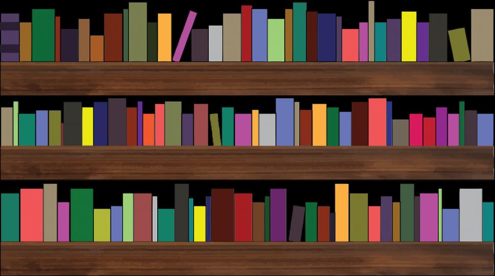 Book on shelf clipart clipart black and white stock Shelves : On Budget Remodeling Book Shelves Image Concept ... clipart black and white stock