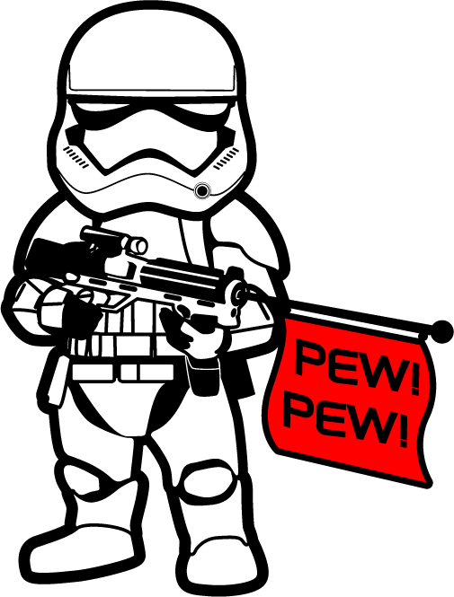Star wars space ship clipart jpg library library 1st Order Stormtrooper PEW! PEW! Sticker | Disney | Pinterest | Pew ... jpg library library