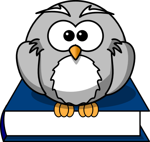 Owl reading book clipart image black and white Owl On Book Clip Art at Clker.com - vector clip art online, royalty ... image black and white
