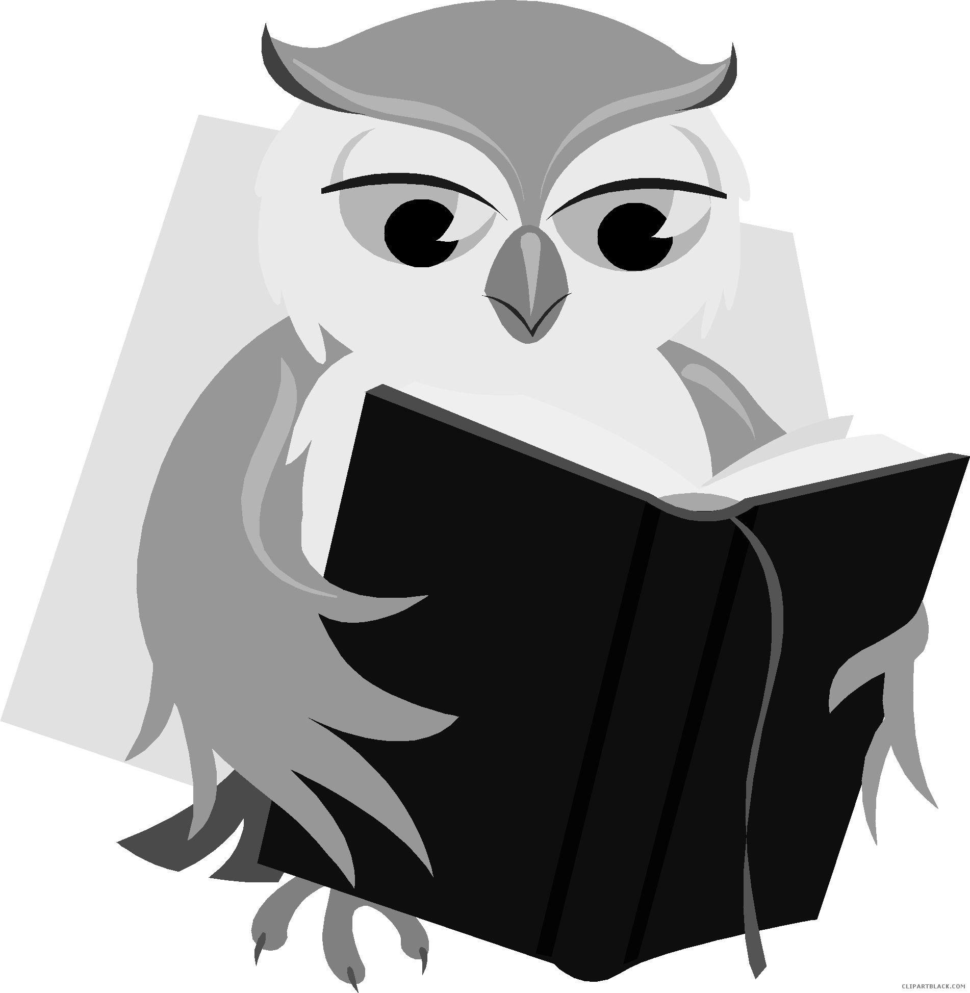 Owl reading book clipart svg freeuse download Owl with Book Clipart - ClipartBlack.com svg freeuse download