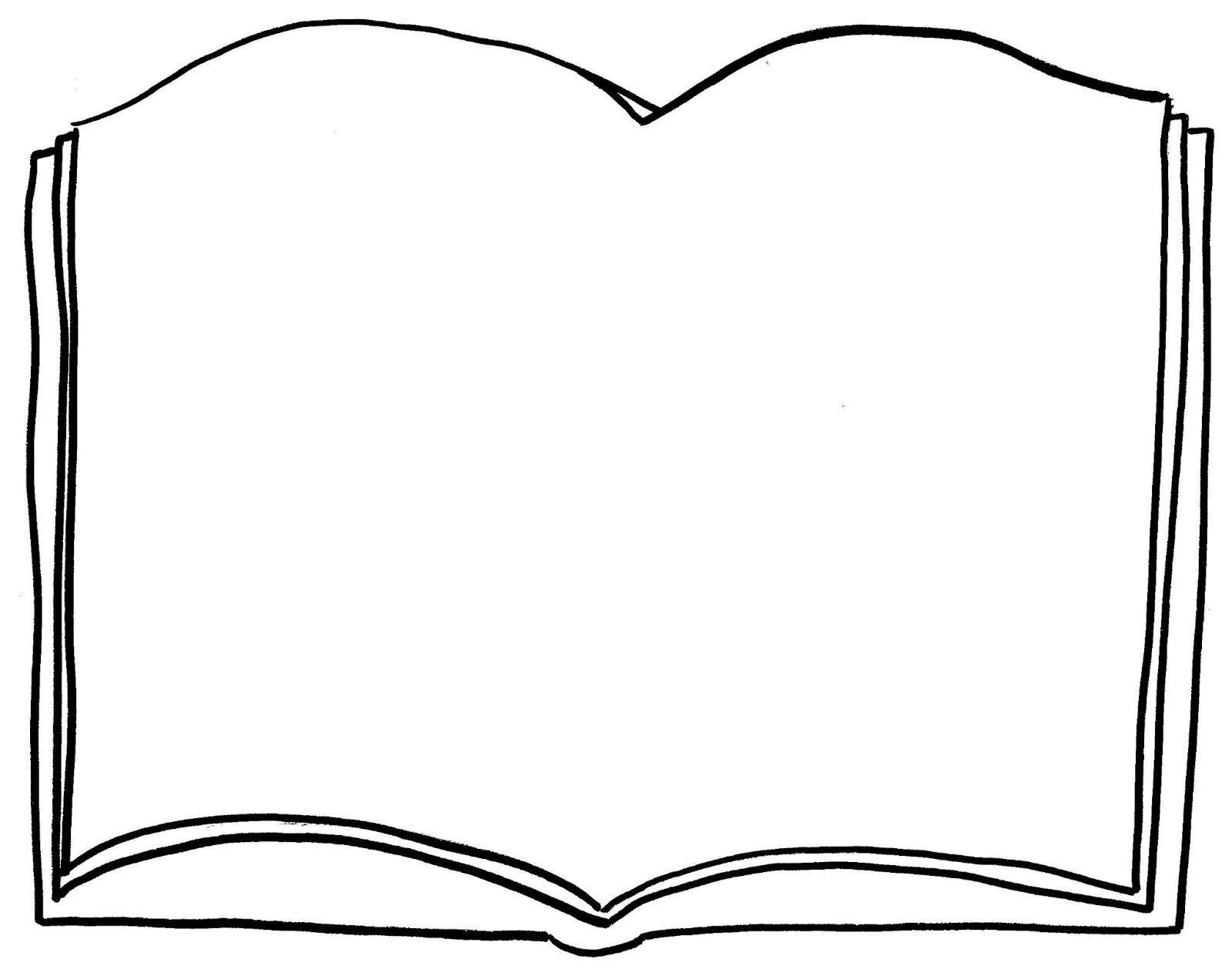 Book page blank clipart black and white png royalty free library Picture Of An Open Book | Free download best Picture Of An Open Book ... png royalty free library