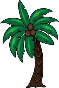 Palm tree icon clipart image transparent library Palm Tree Clipart Image - Tropical Coconut Palm Tree Icon - ClipArt ... image transparent library