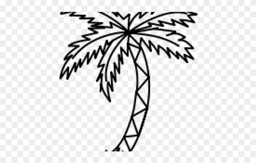 Book palm tree clipart jpg black and white Drawn Palm Tree Line - Coloring Book Clipart (#3275493) - PinClipart jpg black and white