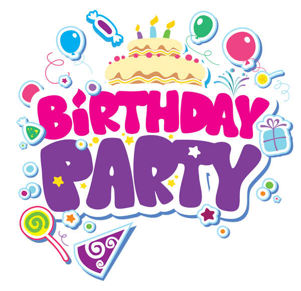 Book party clipart banner black and white stock Birthday party – Crystal Events & Management banner black and white stock