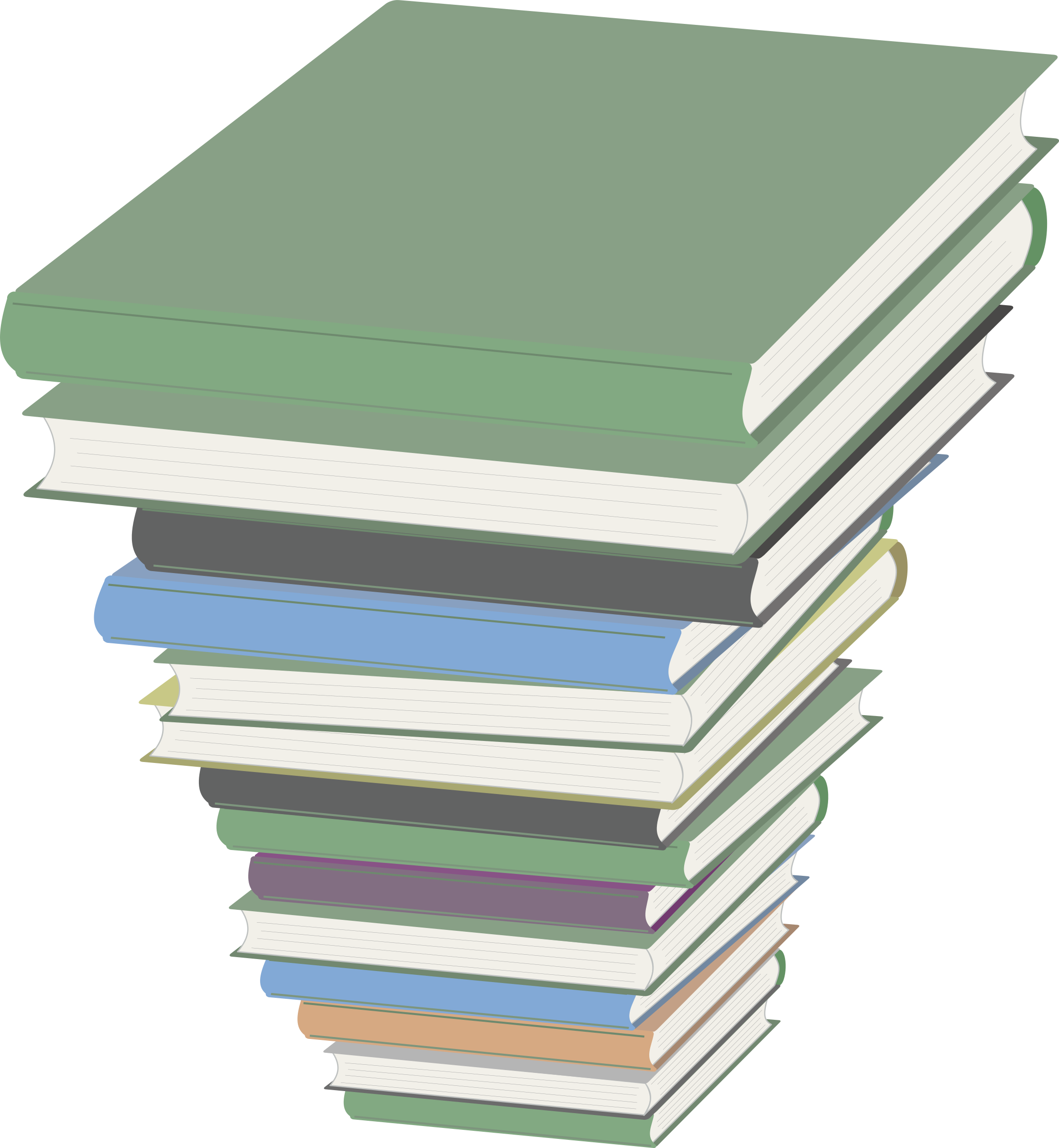 Clipart book stack jpg free stock Clipart - Pile of Books jpg free stock
