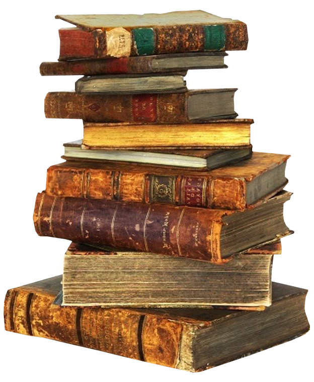 Book piles clipart banner transparent library Pile Of Books Group (62+) banner transparent library