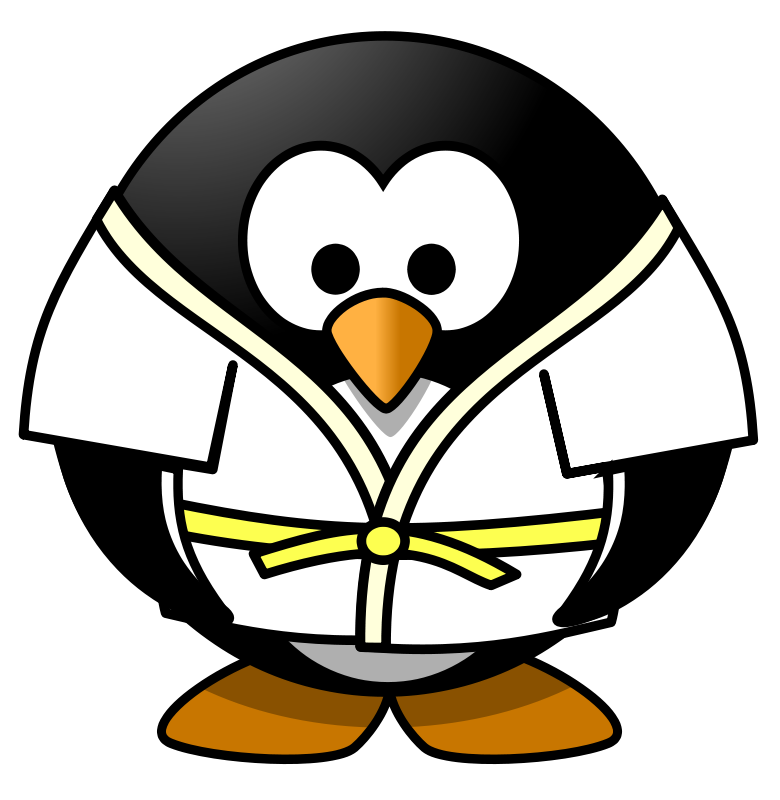 Penguin with book clipart vector Free clip art