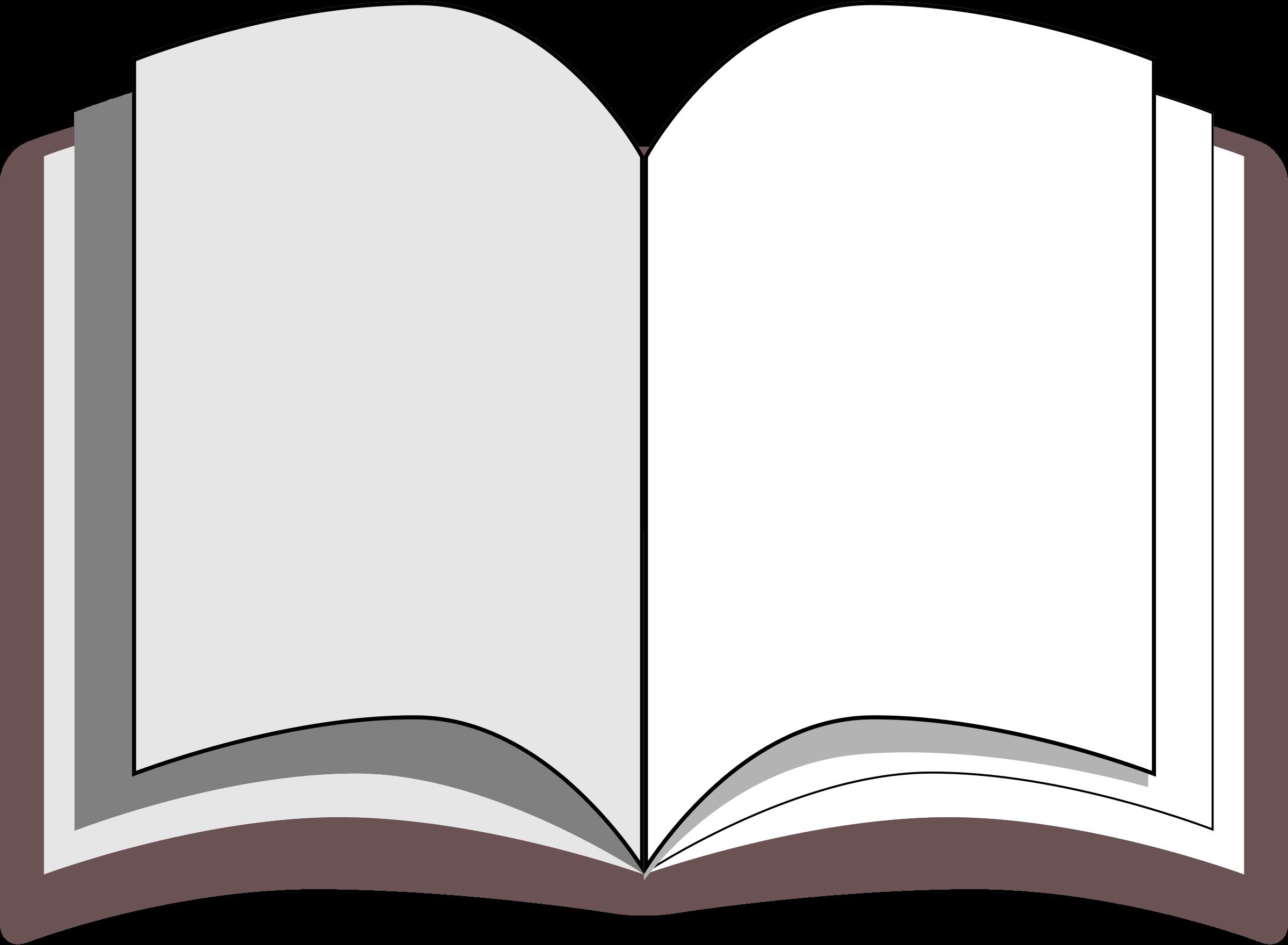 Open book public clip. Free domain clipart