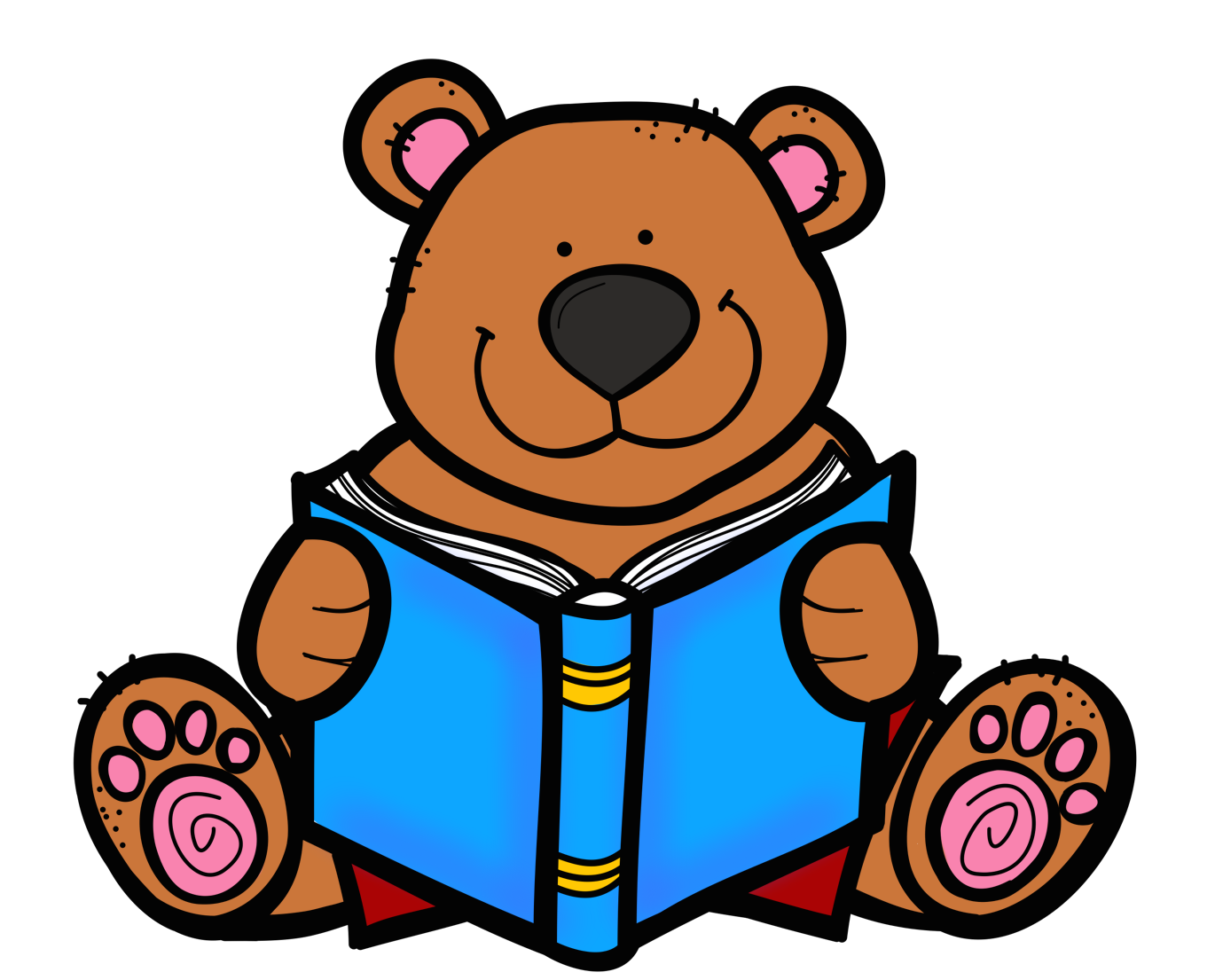 Cute school bear clipart picture royalty free Love reading clipart collection - Clipartix picture royalty free