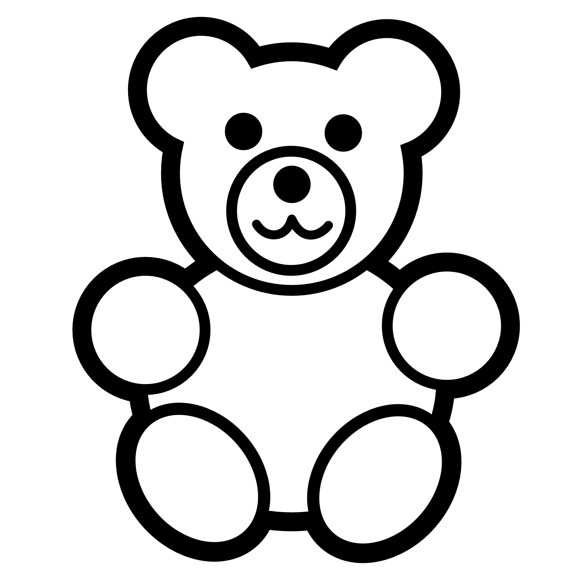Christmas bow clipart black and white svg freeuse stock 28+ Collection of Free Teddy Bear Clipart Black And White | High ... svg freeuse stock