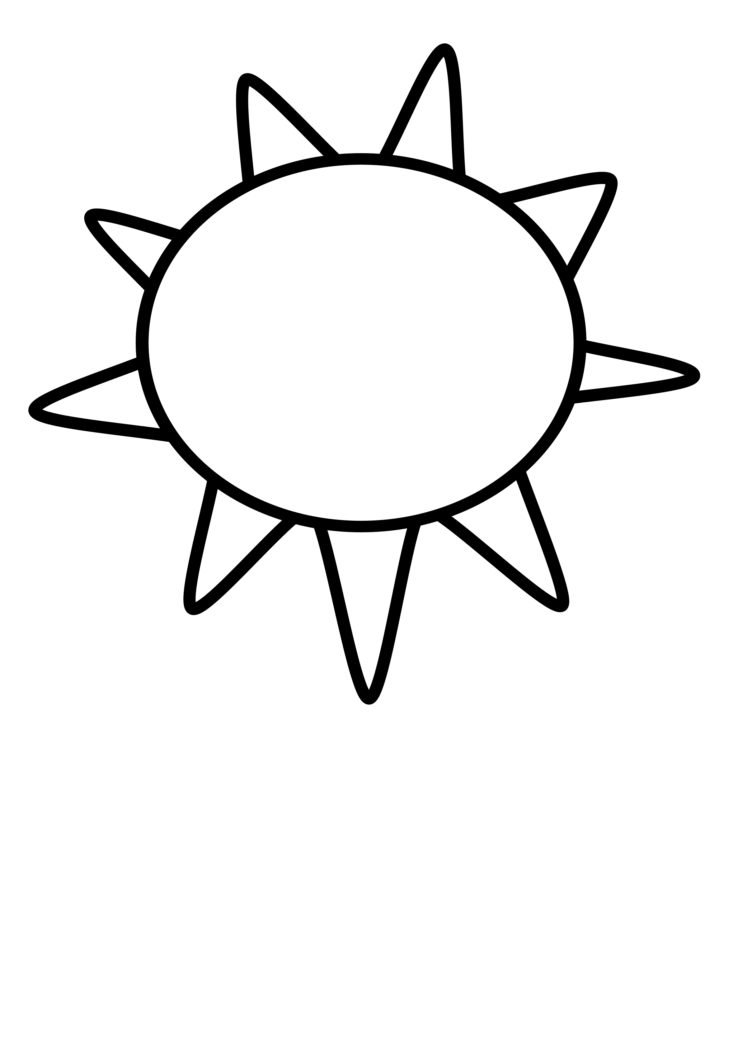 Sun line clipart vector black and white library Clipart - Sun Outline vector black and white library