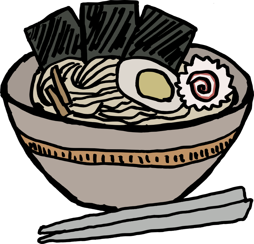 Book return clipart vector freeuse download OnlineLabels Clip Art - Ramen Bowl With Nori vector freeuse download