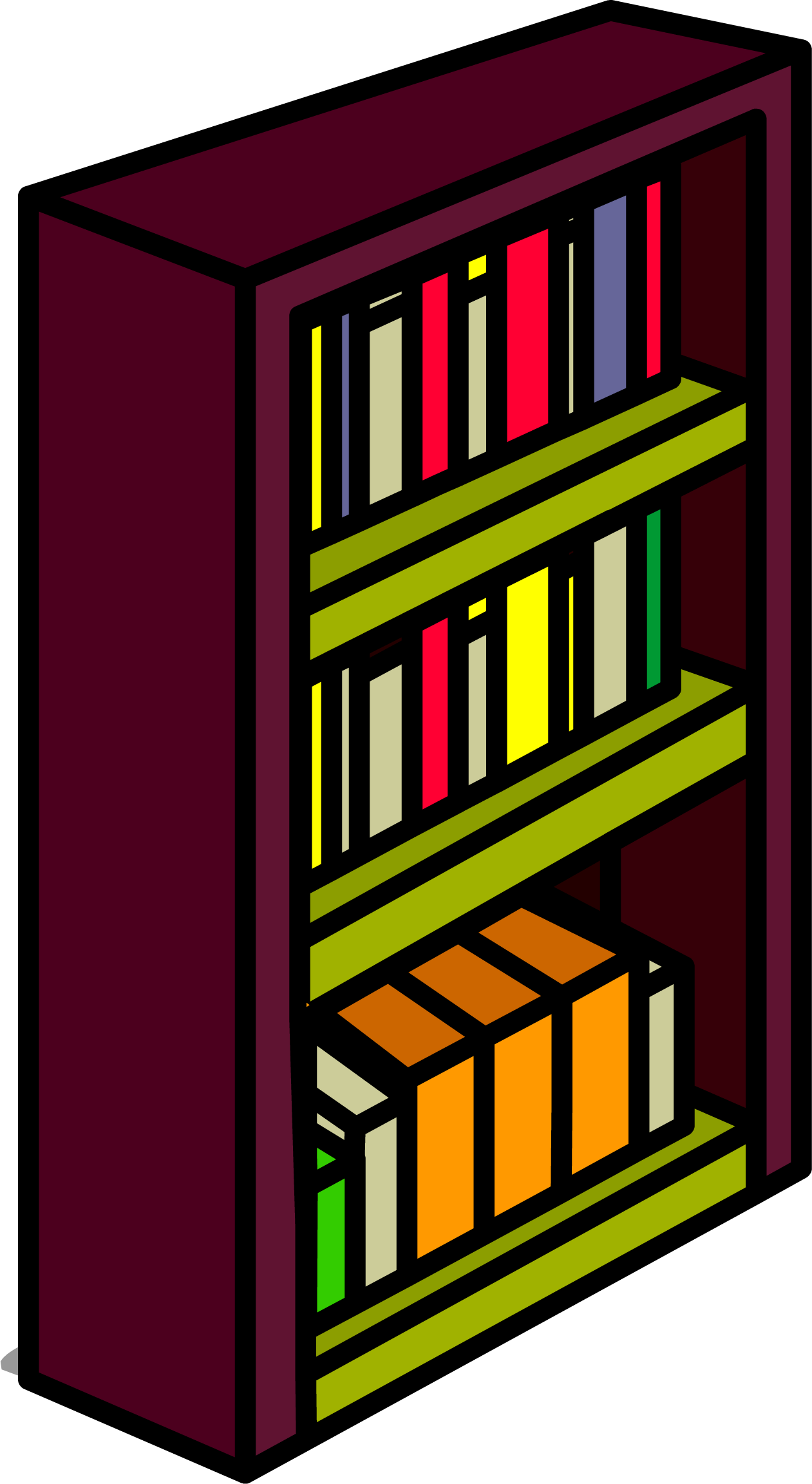 Clipart of a book shelf banner transparent stock Image - Burgundy Bookshelf sprite 010.png | Club Penguin Wiki ... banner transparent stock